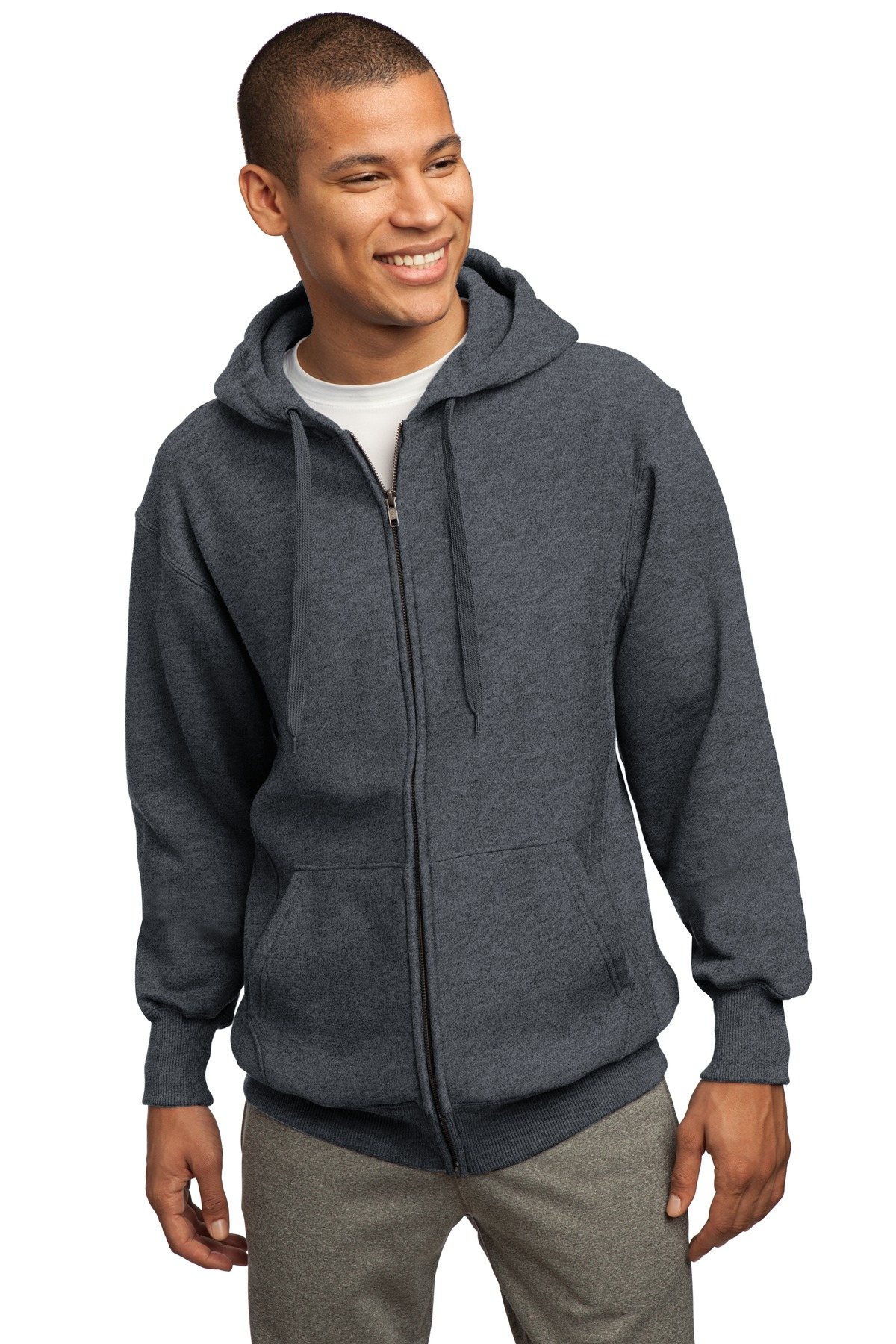 Sport-Tek - Super Heavyweight Full-Zip Hooded Sweatshirt. F282