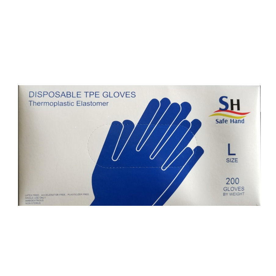 Thermoplastic Elastomer (TPE) Glove, Large, Clear