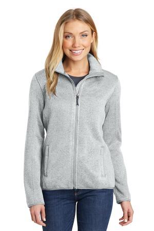 Port Authority Ladies Sweater Fleece Jacket. L232