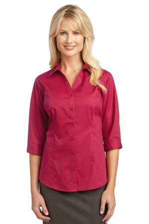 IMPROVED Port Authority Ladies 3-4-Sleeve Blouse. L6290