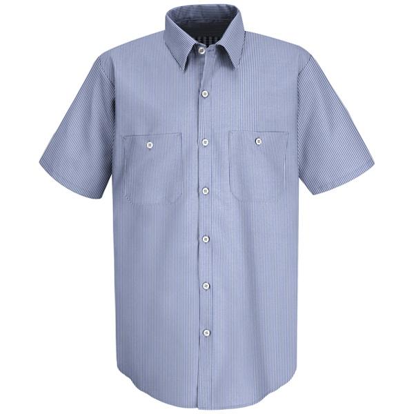 Mens Industrial Stripe Work Shirt - SL20