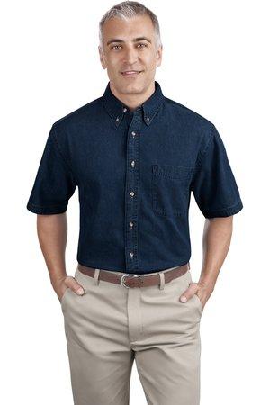 Port and Company - Short Sleeve Value Denim Shirt. SP11