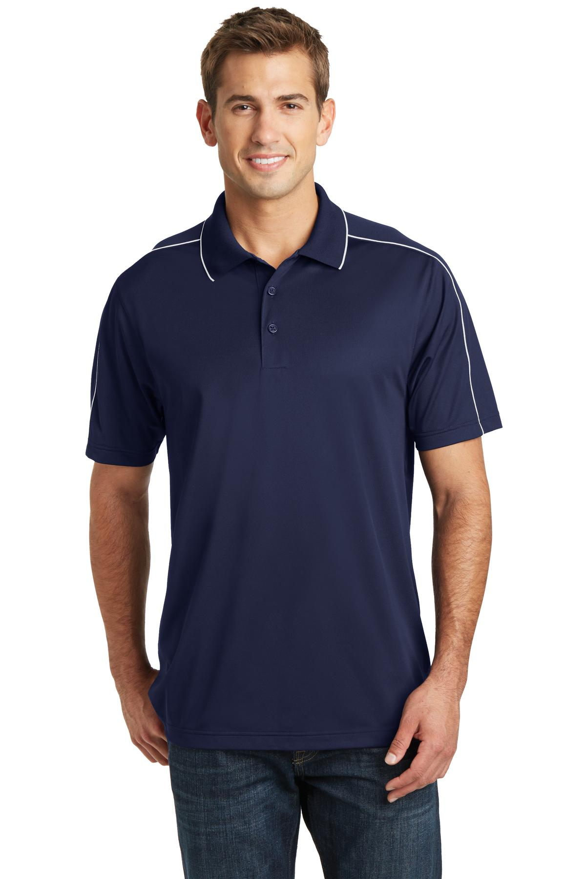 Sport-Tek Micropique Sport-Wick Piped Polo. ST653