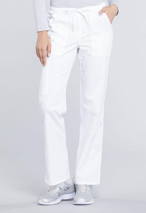 Mid Rise Straight Leg Drawstring Petite Pant WW160P