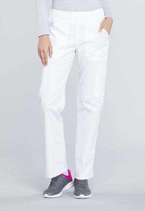 Cherokee Workwear Mid Rise Straight Leg Pull-on Cargo Petite Pant WW170P