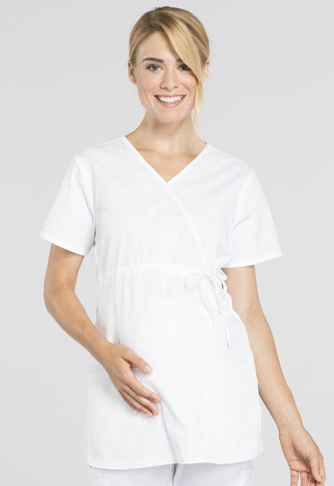 Cherokee Workwear Maternity Mock Wrap Top WW685